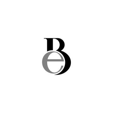 simple b and e logo