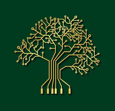 Printed circuit board like tree