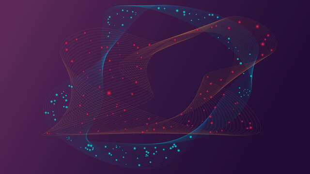 abstract technology particles mesh, background, fondo,