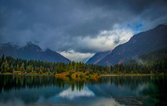 Gold Creek Pond Autumn, Snoqualmie Pass, Washington
