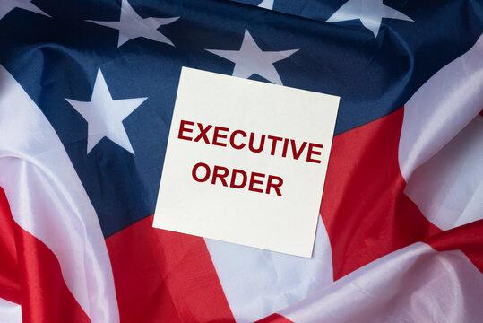 Executive order inscription. President's law and legislation
