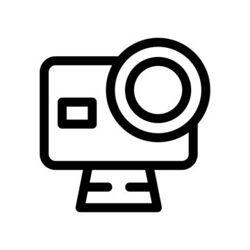 action camera icon or logo isolated sign symbol vector illustration - high-quality black style vector icons