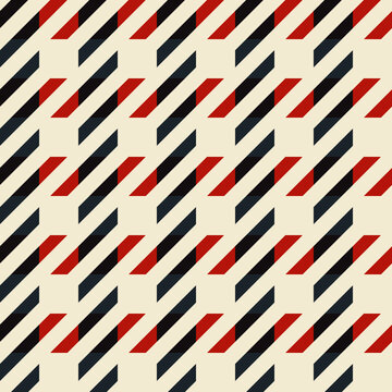 Vector Twill Plaid check Pattern red. Seamless fabric texture.