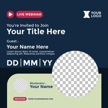 Webinar Poster Design for Social Media. Good for Promotion Your Webinar