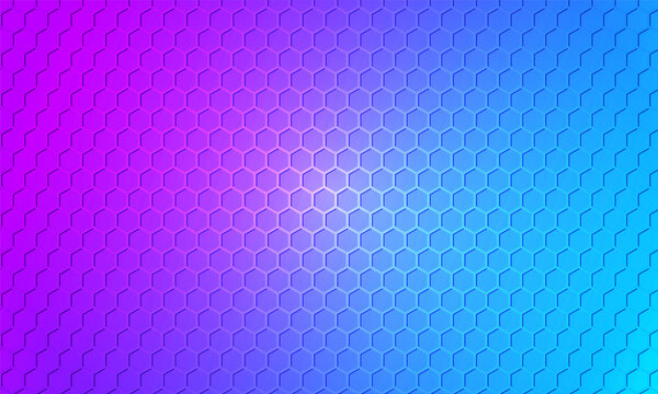 Hexagon metal multicolored, textured steel background. Bright colorful carbon fiber honeycomb texture. Web design template illustration.