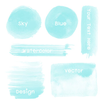 Set of watercolor stain