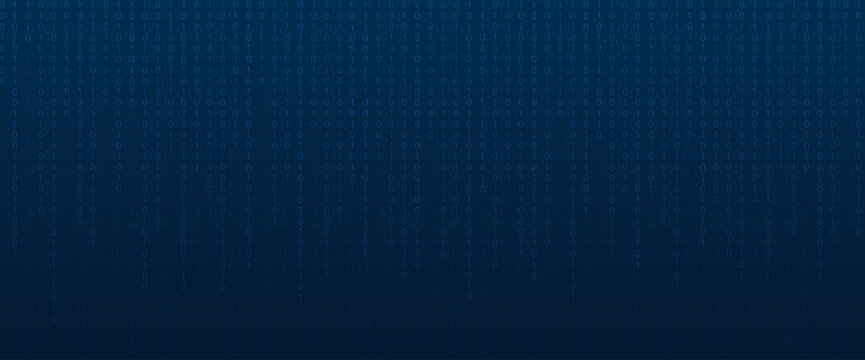 Binary code abstract technology background. Global network