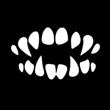 monster mouth with sharp teeth
