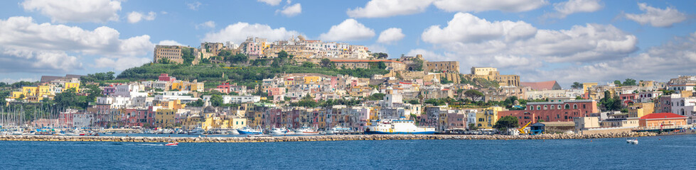 Wall Mural - Landscape with panoramic view of Procida island, Italy