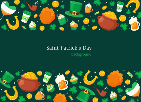 Saint Patrick's Day background. Vector illustration
