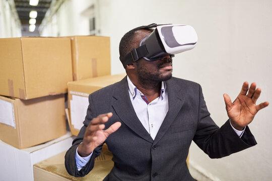 VR-Brille zur Simulation der VR Arbeitswelt