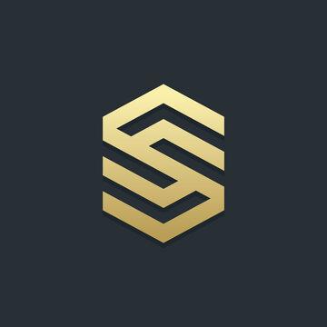 Letter S logo template. Unique modern creative logotype. Vector icon.