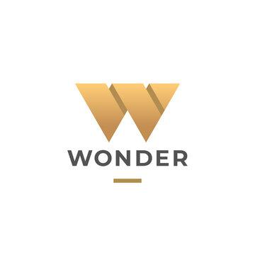 Letter W logo template. Unique modern creative logotype. Vector icon.