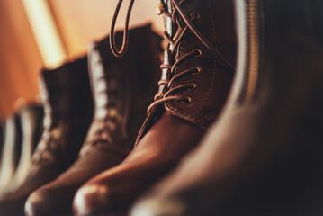 Elegant Leather Shoes Close Up