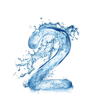 water splash letters and fonts a to z and 1 to 0 number 3
