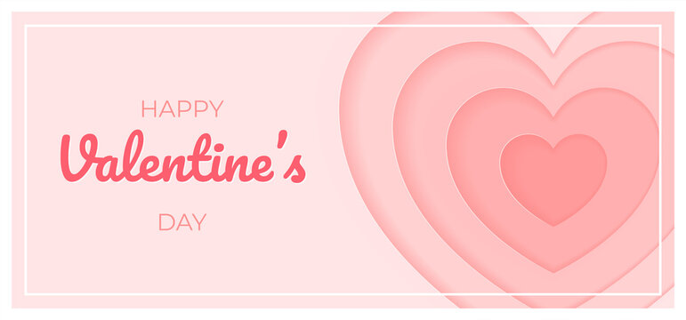 St. Valentine's day template. Beautiful St. Valentine's day background decorated with a heart. Vector 10 EPS.