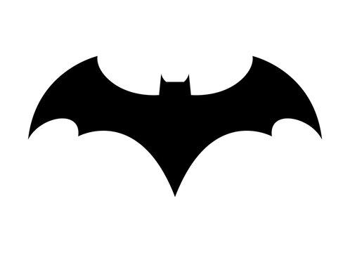Vector logo concept icon. Bat man dark knight superhero cartoon abstract icon