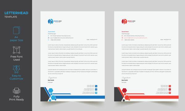 Elegant Corporate Creative Business professional letterhead Stationery templates design
