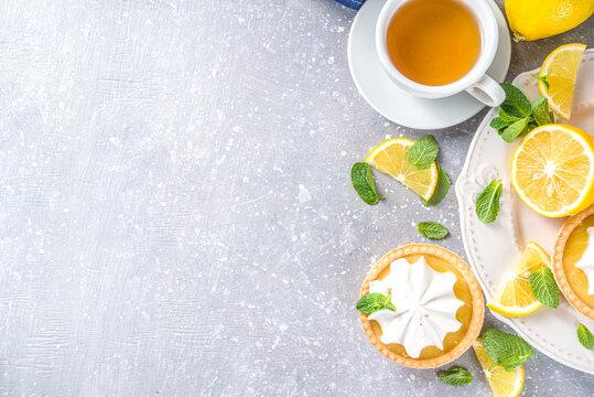 Lemon tartlets, mini tart cakes