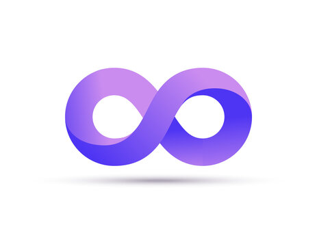 Infinity logo symbol loop icon, infinite 8 mobius cycle