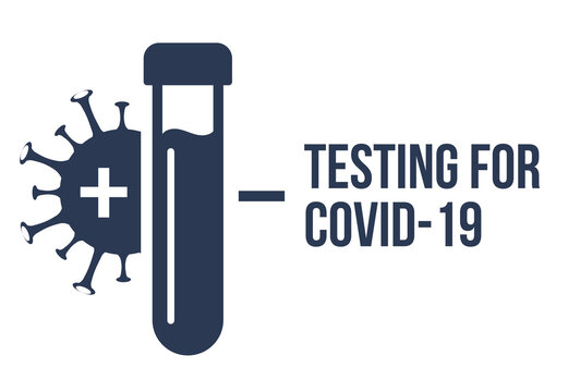 Covid pcr test vector icon. Corona virus covid19 tube test medical laboratory