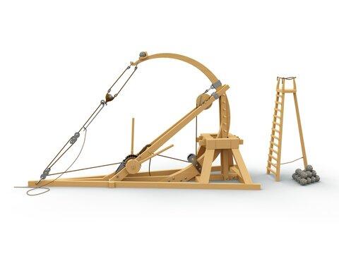 Catapult, Leonardo da Vinci, Codex Atlanticus/0148r