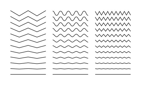 Line wave stroke zigzag vector. Squiggle curve simple squiggly line stroke
