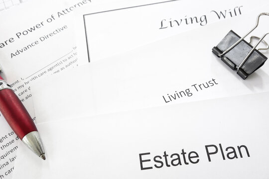 Estate planning documents --  Living Trust, Living Will, Healthcare Power of Attorney