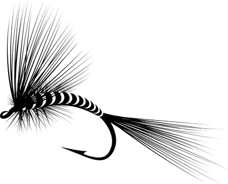 dry fly silhouette