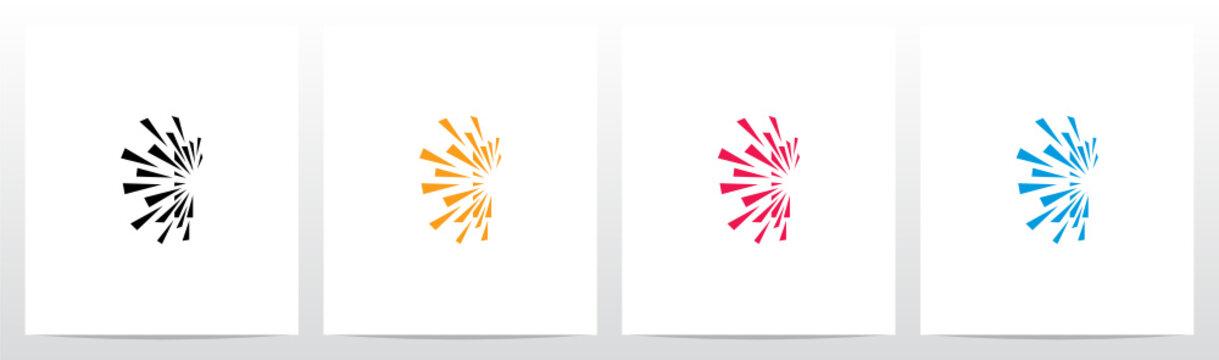 Debris Explosion On Letter Logo Design I