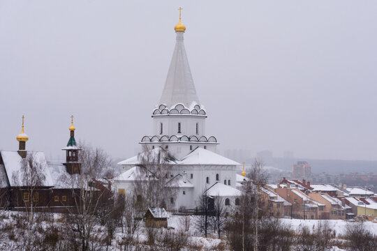The church in honor of the Holy Equal-to-the-Apostles Princess Olga in Nizhny Novgorod in winter