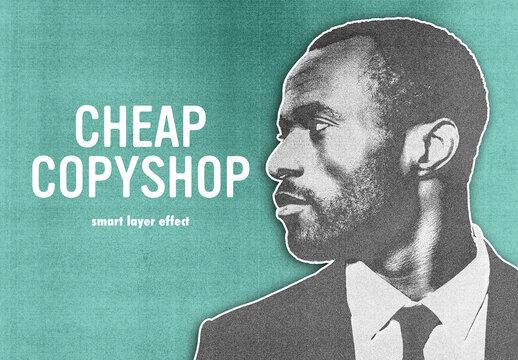 Copy Machine Effect Mockup