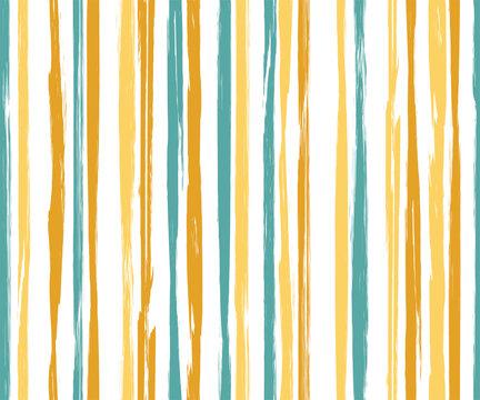 Painter vertical stripes vector seamless pattern.