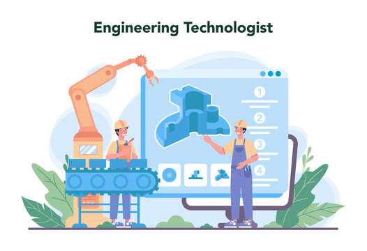 Engineering concept. Technology and science. Professional occupation