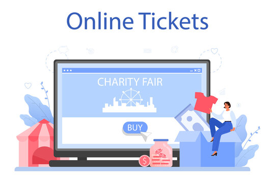 Charity online service or platform. People or volunteer donate