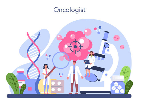 Professional oncologist. Cancer disease diagnostic and treatment