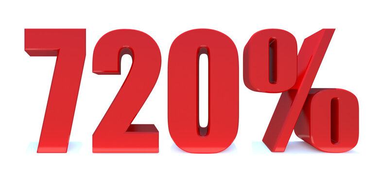 720 Percent off 3d Sign on White Background, Special Offer 720% Discount Tag, Sale Up to 720 Percent Off,big offer, Sale, Special Offer Label, Sticker, Tag, Banner, Advertising, offer.