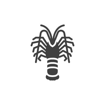 Langoustine shrimp line icon. linear style sign for mobile concept and web design. Prawn, shrimp outline vector icon. Symbol, logo illustration. Vector graphics