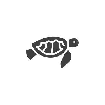 Sea turtle line icon. linear style sign for mobile concept and web design. Chelonia mydas outline vector icon. Symbol, logo illustration. Vector graphics