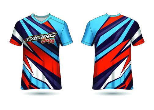 Racing Sport Jersey Template Design vector
