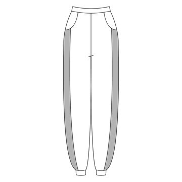 Women garment collection sportswear technical vector sketch