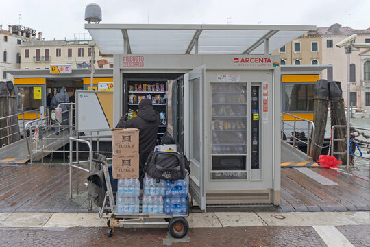 Filling Vending Machine Venice Italy