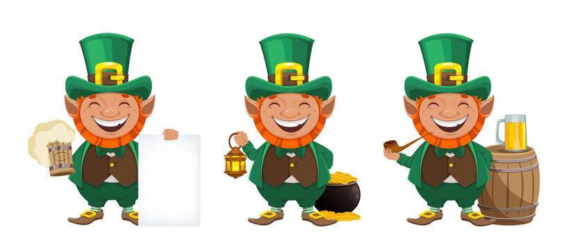 St Patrick's day. Leprechaun cartoon character