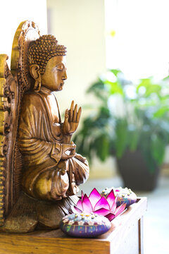 Buddah statue at home.