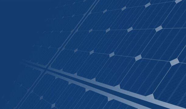 solar panels blue background