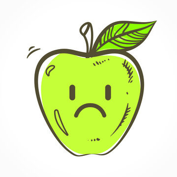 Apple Fruit Character