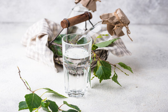 Birch juice, traditional Russian spring drink
