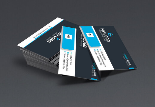 Cyan Business Card