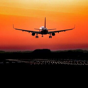 A320 Sonnenuntergang