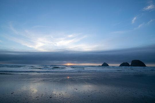 la calma de la playa